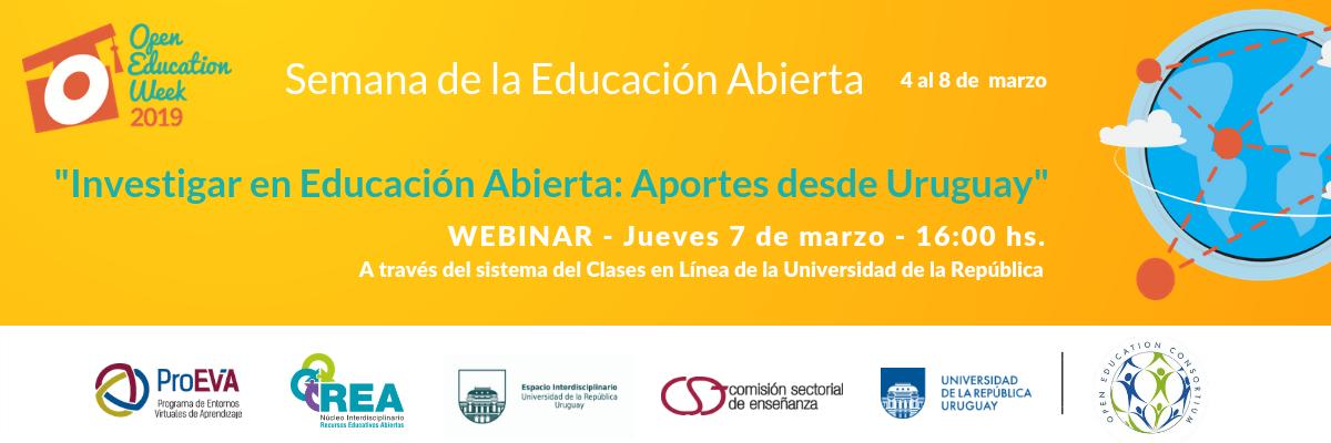 """Webinar: """"Investigar en Educación Abierta. Aportes desde Uruguay"""""""