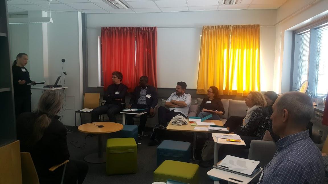 """Primera reunión del proyecto """"Smart Ecosystem for Learning and Inclusion"""". En la foto están reunidos parte de quienes integran el proyecto"""